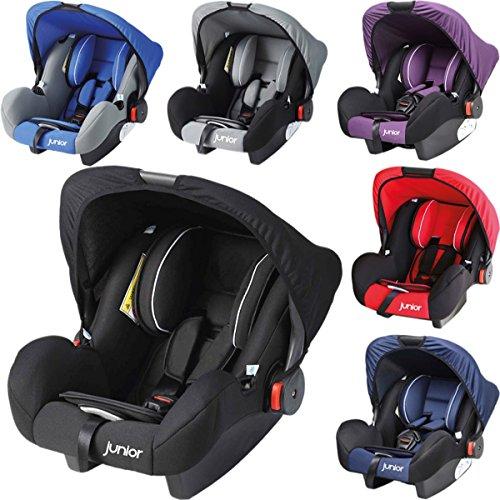 babyschale babytrage f r autositz 0 bis 13 kg inklusive sonnendach lila schwarz buggy. Black Bedroom Furniture Sets. Home Design Ideas