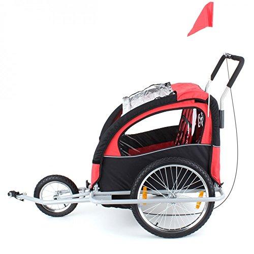 fahrradanh nger f r 1 bis 2 kinder convertible jogger rot buggy. Black Bedroom Furniture Sets. Home Design Ideas