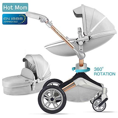 hot mom kombikinderwagen mit buggy und babywanne 2018. Black Bedroom Furniture Sets. Home Design Ideas